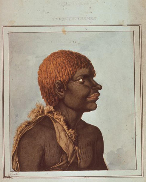 N.-M. Petit, Aboriginal man, Ouriaga, Van Diemen's Land.